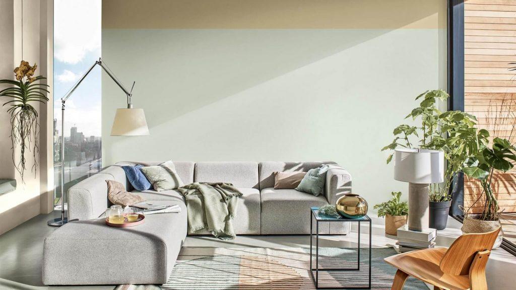 Interieur kleur 2020 Tranquil Dawn huiskamer